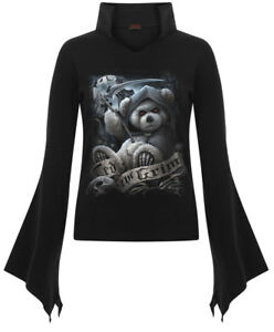 SPIRAL DIRECT TED THE GRIM HIGH NECK TOP.
