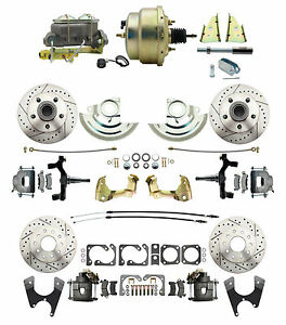 """GM A Body 1964-74 Front & Rear Disc Brake Conversion w/ 8"""" Dual Pwr Brake Kit"""