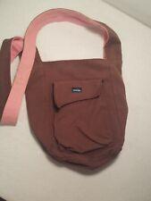 Kavu Small Crossbody Purse Canvas Shoulder Bag brown pink