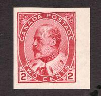Sc 90A - Canada - 1903 - 2 cent Imperf - KEVII MH - VF -  superfleas - cv$25