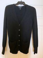 Jcrew 100% Italian Cashmere Cardigan Sz S Black