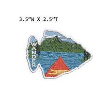 New ListingWander - Mountain Lake Embroidered Patch Iron-on / Sew-on Nature Applique