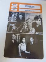 FICHE CINEMA,VERS LA JOIE, INGMAR BERGMAN, M.B.nilsson,S.olin,1949