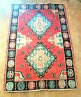 BEAUTIFUL AUTHENTIC HAND WOVEN MULTI COLOR TAPESTRY HANGING WALL RUG 46 1/2 X 68
