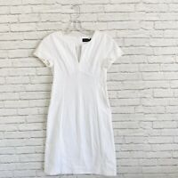 New Piazza Sempione Cap Sleeve White Dress