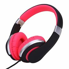 RockPapa Foldable Adjustable Girls Women Headphones for iPhone Kindle iPad Pink