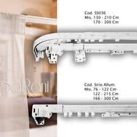 Scorritenda a Corda Bastone per Tenda a Parete in Alluminio 2 Binari fino a 3m