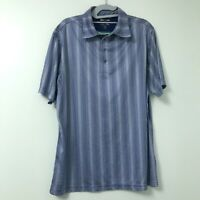 Adidas Climacool Men's Blue Plaid Short Sleeve Golf Polo Golf Shirt Size Medium