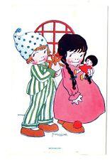 CPA Fantaisie  Bonsoir Illustrateur M. Vanasek carte publicitaire  postcard