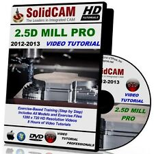 SOLIDCAM 2.5D Mill Milling 2012-2013 Video Tutorial Training Course