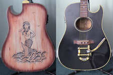 Custom Acoustic Electric Guitar, Bigsby Tremelo With Scrimshaw Mermaid Engraving