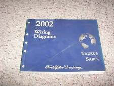 2002 Mercury Sable Electrical Wiring Diagram Manual GS LS Premium 3.0L V6