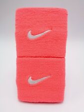 "Nike Promo Premier Wristbands Hot Lava/White 3"" Men's Women's"