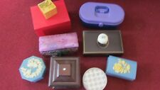 Lot of 10 Jewelry Boxes / Containers for Dresser, Travel and Collectibles