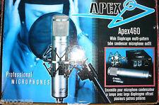 MICROPHONE STUDIO APEX 460 TUBE + FILTRE ANTI POP = OLD STOCK DEMO
