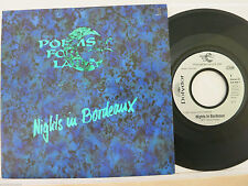 "Poems For Laila ‎– Nights In Bordeaux   7"" Single  Polydor – 879 908-7  * 1991"