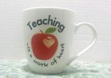 Pfaltzgraff Teaching Is A Work Of Heart Coffee Mug Tea Cup Favorite Teacher Gift