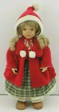 """Anri Wood Articulated Jointed Doll Sarah Kay Christina Christmas 14"""" 88/1000 Vtg"""