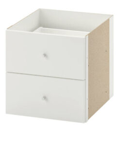 Brand New, IKEA KALLAX Insert with 2 drawers, white 13x13, 702.866.45