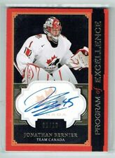 13-14  UD The Cup Program of Excellence  Jonathan Bernier  1/10  First Card Auto