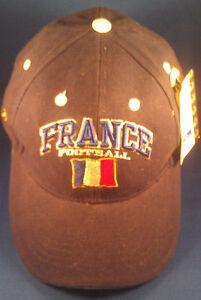 TEAM FRANCE DARK BLUE EMBOSSED RARE 2002 FIFA World Cup Korea Japan Hat Cap