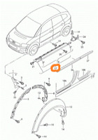 Audi A2 2000-2005 Véritable Extérieur Droit Côté Panneau Moulage 8Z0853860A3FZ