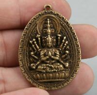 42MM Chinese Bronze Buddhism 1000 Arms Avalokiteshvara Kwan-yin Guan Yin Pendant