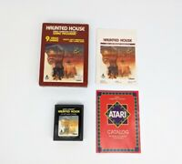 Haunted House Atari 2600 White Manual, Picture Label - COMPLETE CIB