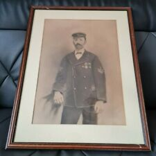 More details for victorian royal navy seaman framed portrait showing him wearing his medals