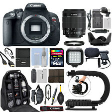 Canon EOS Rebel T5i DSLR Camera with 18-55mm IS STM Lens + 64GB Pro Video Kit