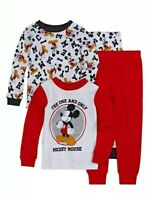 NWT Disney Mickey Mouse Boys 4-pc Pajama Set Toddler 2T