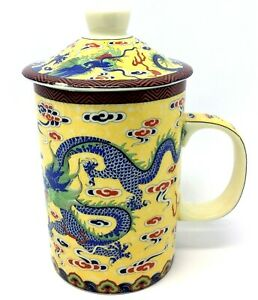 Modern Decorative Blue Dragon Chinese China Porcelain Cup Used