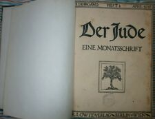 DER JUDE Dr.Martin Buber German Monthly FIRST ISSUE + 11binding together 1916