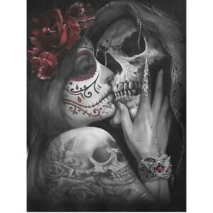 30x40cm ,Style C MWOOT 5D Full Drill Diamond Embroidery Painting Kit,Halloween Skull DIY Diamond Rhinestone Pasted Painting Cross Stitch Crafts for Home Wall Decor