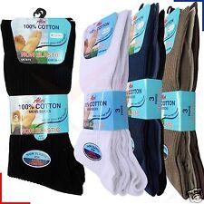 Mens Non Elastic Socks Cotton Honeycomb Loose Soft Top Diabetic 6-11 Aler
