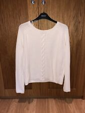 Ladies / Women's Tommy Hilfiger Crew Neck Cotton Jumper - Cream. Size UK Small.