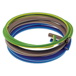 25mm Flexible Meter Tail Pack - Blue & Brown Tails & 16mm Green/Yellow Earthwire