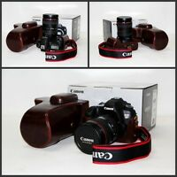 New Protective PU leather case bag cover For Canon EOS 7D 6D camera