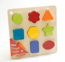 Wooden Shape Sorter Sorting Puzzle Colorful Ackerman D66732