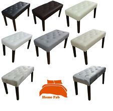 Dressing Bench Table Stool Chair Available in Faux Leather Linen Look Velvet