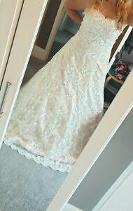 Beach / Summer / Lace - Wedding dress - size 16 - NEW