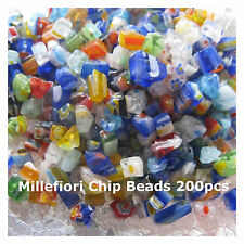 Multi Color Millefiori Glass Chip Bead 200 Bead Chips Jewelry Craft Supply