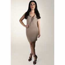 Thigh-Length V Neck Party Patternless Dresses for Women