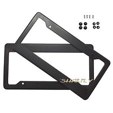 2X CARBON FIBER PAINTED LICENSE PLATE FRAME US/CANADA SIZE COVER TAG COVER SCREW