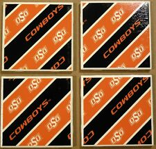 Coasters Set Oklahoma State University Cup Holder Bar Drinks OSU Cowboys Gifts