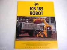 JCB 185 Robot Skid Steer Loader 6 Pages,1995 Brochure     #