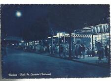 vecchia cartolina di riccione  viale m. ceccarini di notte