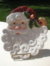 Fitz & Floyd Essentials Jolly Santa Canape Decorative Plate Or Hanging Decor