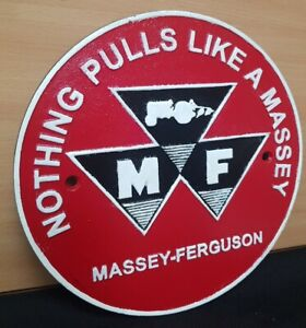 ** NOTHING PULLS LIKE  A MASSEY FERGUSON TRACTOR **VINTAGE STYLE CAST IRON SIGN