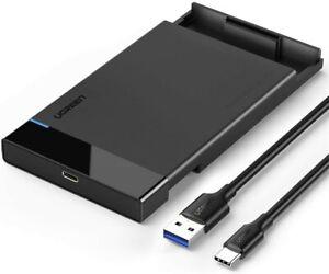 Ugreen USB-C Caddy 2.5 SATA Hard Drive Enclosure SATA III HDD/SSD External Case